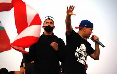 J Balvin y Residente en Puerto Rico.