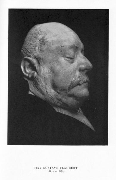 Máscara mortuoria del escritor francés Gustave Falubert.
