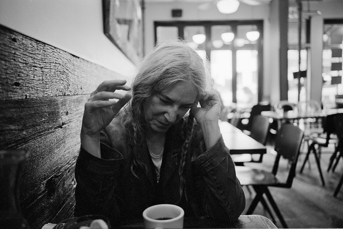Patti Smith at her local coffee shop in SoHo, Sept. 11, 2019. (Andre D. Wagner/The New York Times)
