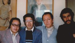 F ÚNICA de izq a derecha 1980-Jaime Nisttahuz, René Bascopé, Marcelo Quiroga Santa Cruz y Ángel Bascopé