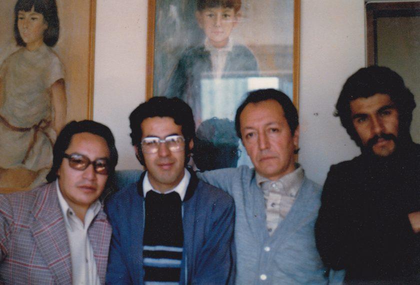 F1 de izq a derecha 1980-Jaime Nisttahuz, Ren+¬ Bascop+¬, Marcelo Quiroga Santa Cruz y +üngel Bascop+¬