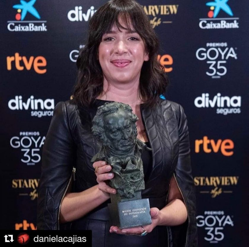 Daniela Cajías con Goya