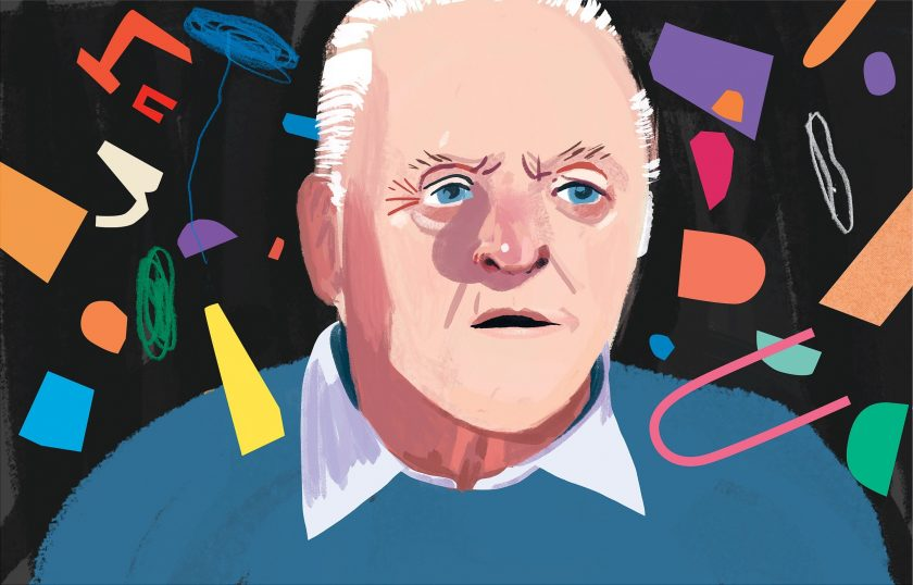 Anthony Hopkins dibujo the father new yorker