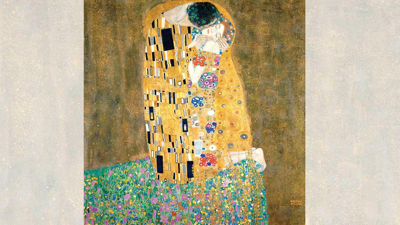 Klimt beso pintura