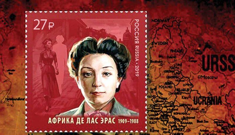 Sello postal Rusia